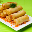 Spring Roll on background — Stock Photo