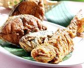 Fritierter Fisch Essen in malaysia — Stockfoto