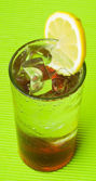 Ice lemon tea, drink, on white background — ストック写真
