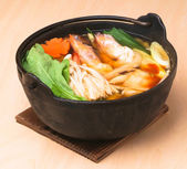 Japanese seafood soup, asian cuisine. — Stock Photo