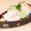 Japanese sashimi, mixed sashimi on the background — Stock Photo