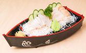 Japanese sashimi, mixed sashimi on the background — Stock Photo