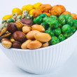 Stock Photo: Nuts Mixed on background