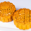 Mooncake, the Chinese words on mooncake is 'ingredient', not a l — Stock Photo