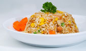 Fried rice. a series of nine Asian food dishes. — Stock Photo