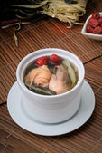 Home-made chicken and vegetable soup, — Stok fotoğraf