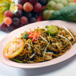 Noodles. stir-fried noodles with chicken — Stock Photo #35070397
