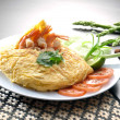 Omelet with fried rice — Stock Photo
