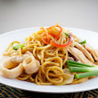 Noodles. stir-fried noodles with chicken — Stock Photo #35070985