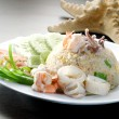 Seafood fried rice. asia food — Stock Photo