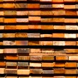 Stack of lumber with background — Stock Photo