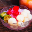 Stock Photo: Shaved Ice dessert and Fresh fruits