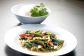 Kang kong. Stir Fried Water Spinach with Belacan — Stock Photo