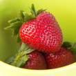 Fresh strawberries on background — Stock Photo