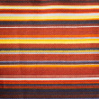Textured Striped Cotton Fabric Swatch — Stock Photo