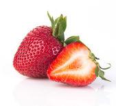 Fresh strawberries on background — Stock Photo