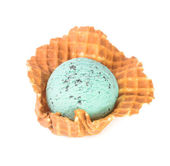 Ice cream. mint chocolate chip ice cream on a background — Stock Photo