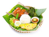 Indonesian special fish dish, Ikan, on background — Stock Photo