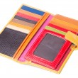 Stock Photo: Wallet. woman wallet on a background