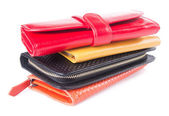 Wallet. woman wallet on a background — Stock Photo