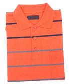 Shirt. mens folded polo shirt on a background — Zdjęcie stockowe