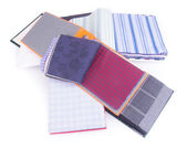 Fabric. fabric samples on background — Stock Photo
