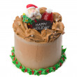 Stock Photo: Cake, Christmas ice cream cake
