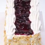 Cake, Ice-cream cake on background — Stock Photo #38619675