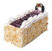 Gâteau, gâteau de crème glacée sur fond — Photo
