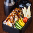 Stock Photo: Japanese cuisine. lunch box set on background