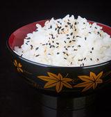 Cocina japonesa. en el fondo del arroz — Foto de Stock