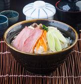 Japanese cuisine. udon on the background — Stock Photo