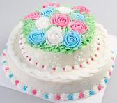 Cake, Ice-cream cake on background — Stockfoto