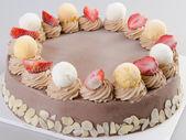 Ice cream. chocolate ice cream cake — Stock Photo
