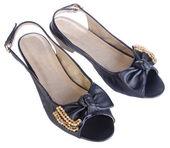 Skor, damer skor på bakgrund. — Stockfoto