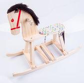Rocking horse on a white background — Stockfoto