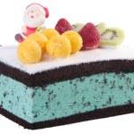 Cake, Christmas ice cream cake — Stock Photo