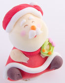 Santa Claus figurine on background — Stock Photo