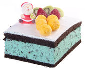 Cake, Christmas ice cream cake — Stock Photo