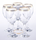 Glass, water glass on background. — Stock Photo