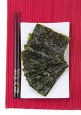 Seaweed. dry seaweed on background — Stock Photo