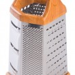 Stock Photo: Metal grater on background.