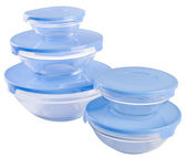 Food containers on the white background. — Stock Photo