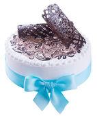 Cake. ice cream cake on background — Stock Photo