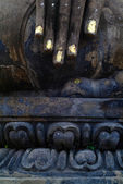 Thailand landmark. Ancient buddha statue. Sukhothai Historical P — Foto de Stock