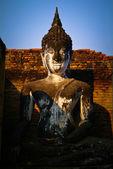 Thailand landmark. Ancient buddha statue. Sukhothai Historical P — Stock Photo