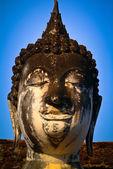 Thailand landmark. Ancient buddha statue. Sukhothai Historical P — Stock fotografie