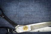 Tailoring Scissors. Large dressmaking or tailoring scissors — Stock Photo