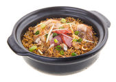Claypot chicken rice. asia food — Stock Photo
