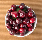 Fresh cherry berry on background — Stock Photo